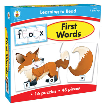 LEARNING TO READ: FIRST WORDS, Age 4+, Set