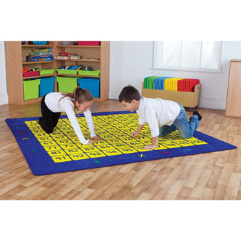 KIT FOR KIDS, 100 Square Counting Grid Rug, 2000 x 2000mm, Each