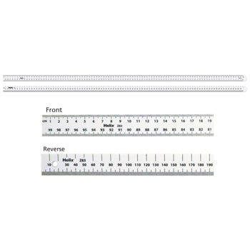 RULER, Plastic, Double Sided, cm/mm, Pack of 10