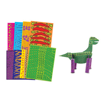 DINOSAUR PATTERNED PAPER, Pack of 40 sheets