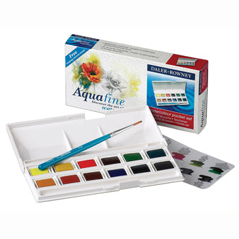 PAINT, WATERCOLOUR SETS, Daler Rowney, Half Pan Starter Pack, Box