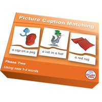 SMART PHONICS, PICTURE CAPTION MATCHING PUZZLES, Phase Two Set 1, Set