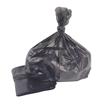 REFUSE SACKS, Black, Rolls, 90 litres, Light Duty, Roll of 50