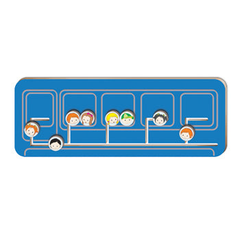 TRANSPORT SENSORY PANELS, Train Coach, 240 x 640mm (h x w)., Each