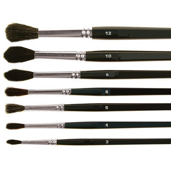 PAINTBRUSH, SHORT HAIR - SHORT HANDLE, Squirrel Mixture Assorted, Class Pack of 60