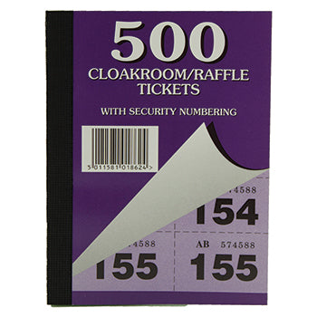 BOOKS, RAFFLE & CLOAKROOM TICKETS, Pack of 12