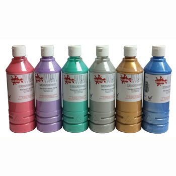 PAINT, CRAFT, Pearlescent Pack, Pack of 6 x 500ml