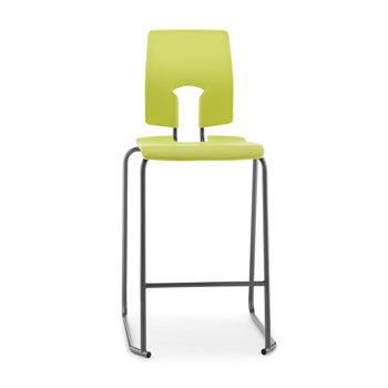 SE STOOL WITH BACK, NON-FIRE RETARDANT SHELL, 610mm Seat height, Light Green