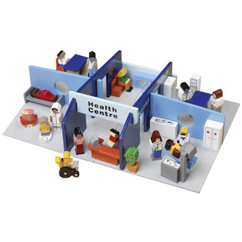 WOODEN TOYS, HEALTH CENTRE PLAY SET, Set
