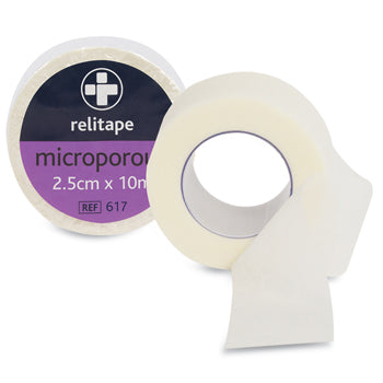 FIRST AID, TAPES AND STRAPPINGS, Microporous, Individually Wrapped, 25mm x 10m, Box of 12