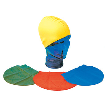 SWIMMING CAPS, Latex, Assorted Colours, Pack of 12