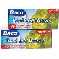 BAGS, Polythene, Food and Freezer, 180 x 230mm, Pack of 50