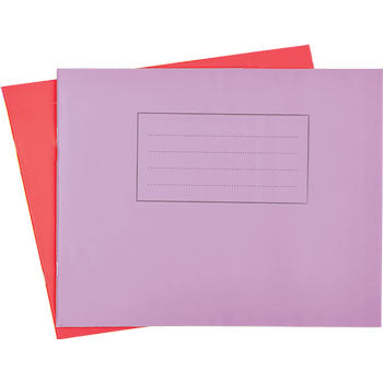 EXERCISE BOOKS, MATT LAMINATED RANGE, A4 Landscape (210 x 297mm), 48 pages, 60gsm paper, Red, 20mm ruled, Pack of 50