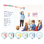 COLOUR EDGED WHITEBOARDS, 1200 x 1200mm, White