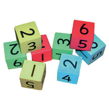 FOAM DICE, Silent, Numbers, 25mm, Set of 8