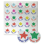 STICKERS, MOTIVATION & REWARD, Star with Caption, Pack of 100 stickers
