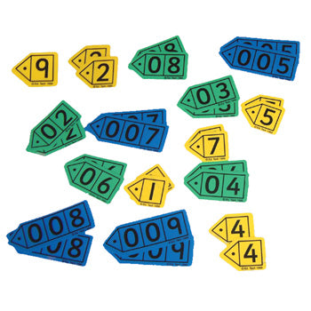 PLACE VALUE ARROWS, DURABLE POLYPROPYLENE, Decimal, Pupil Sized, Pack of 6 sets