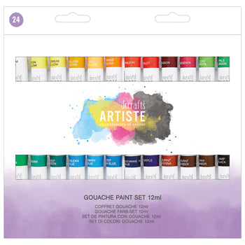 GOUACHE, Artiste Gouache, Pack of 24 x 12ml