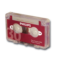 PHILIPS, DIGITAL DICTATION, LFH0005 Mini-Cassettes, 15 minutes per side, Each