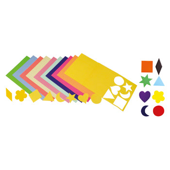 GUMMED PAPER SHAPES, Assorted Shapes, Pack of 300