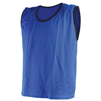 MESH VESTS, Youth/Junior 65 x 52cm (l x w), Blue, Set of 12
