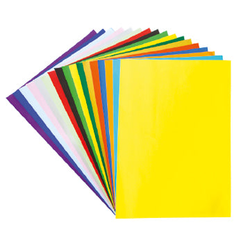 POSTER PAPER, SHEETS, Brights & Metallics, 760 x 510mm, Black, Pack of 25