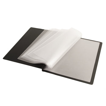 A4 DISPLAY BOOKS, Rigid PVC Over Board Cover, 24 Pockets and Inside Front Cover Pocket, Each