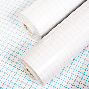 BOOK COVERING MATERIAL, Transparent, Polypropylene 25m rolls, 250mm wide, Each