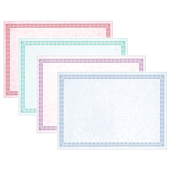 CARD, Marble Effect with Decorative Frame, 200 micron, A4, Assorted, Pack of 100