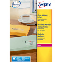 AVERY(R) CLEAR LASER LABELS, L7560-25, Pack of 25
