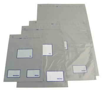 POLYTHENE MAIL BAGS, 460 x 430mm, Self-Seal, Pocket, Pack of 100