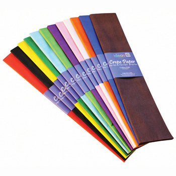 CREPE PAPER, Plains Assorted, Pack of 12 folds