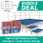 BUNDLE DEAL: Lightweight Staging Systems - Package C + Large Storage Trolley