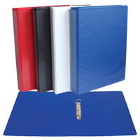 PRESENTATION RING BINDERS FOR PERSONALISATION, A4, 2 RING, 25mm Capacity, Black, Box of 10