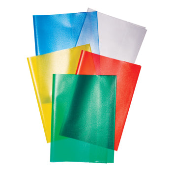 EXERCISE PAPERS, EXERCISE BOOK COVERS, 90 Micron, Assorted Colours, A4 (297 x 210mm), Pack of 25