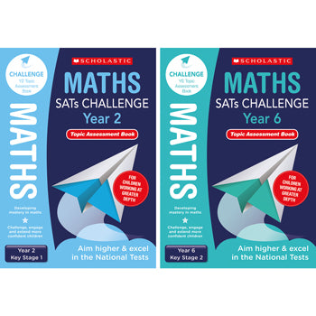 SATS MATHS CHALLENGE CLASSROOM PROGRAMME, Maths Topic Assessments, Year 6, Pack of 10