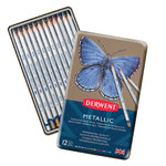 ARTIST'S COLOURED PENCILS, Derwent Metallic, Pack of 12
