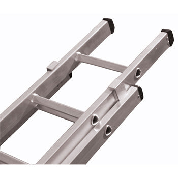 INDUSTRIAL LADDERS, 2 Section Push Up, 19 Rungs per Section, Each