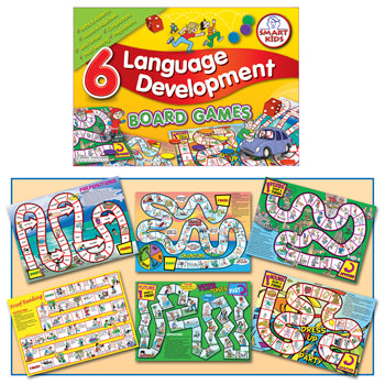SMART KIDS, BOARD GAMES, Language Development, Age 7-11, Set of 6