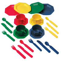 ROLE PLAY, PRETEND AND PLAY DISH SET, Age 3+, Set of 24