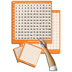 MULTIPLICATION SQUARES, 12 Times Table, Pupil Sized, 170 x 150mm, Pack of 30