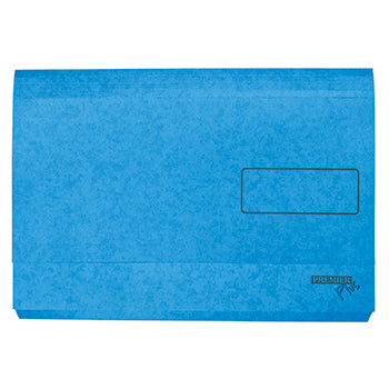 DOCUMENT WALLETS - A3, Blue, Box of 25