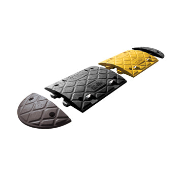 SPEED RESTRICTION RAMPS, 4mph Height 75mm, Ramp, Yellow and Black, Pair
