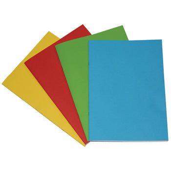 PROJECT BOOKS, 90gsm Cartridge Paper, A4+ (315 x 230mm), 40 pages, Card Cover, Green, Plain, Pack of 50