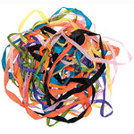 RIBBON LENGTHS, Darks, Brights and Pastels, Pack of 10 x 2m
