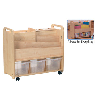 Millhouse CREATIVITY ZONE, DOUBLE SIDED CREATIVE UNIT, 3 Clear Tubs