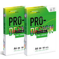 PAPER, LASER/DIGITAL, Pro Design, White, 160gsm, A4, Box of 5 x 250 sheets