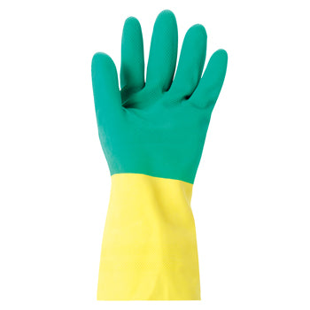 CHEMICAL RESISTANT GLOVES, Heavy Weight, Ansell - Bi Colour(TM) 87-900, Medium, Pair
