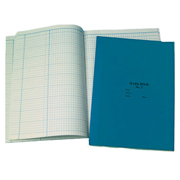 MARK BOOK, 85gsm white laid paper. Stiff board cover with cloth strip., A4, 64 pages, Blue, Each