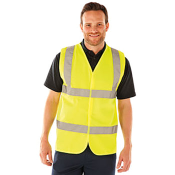 HIGH VISIBILITY WEAR, Waistcoat, Large, Each